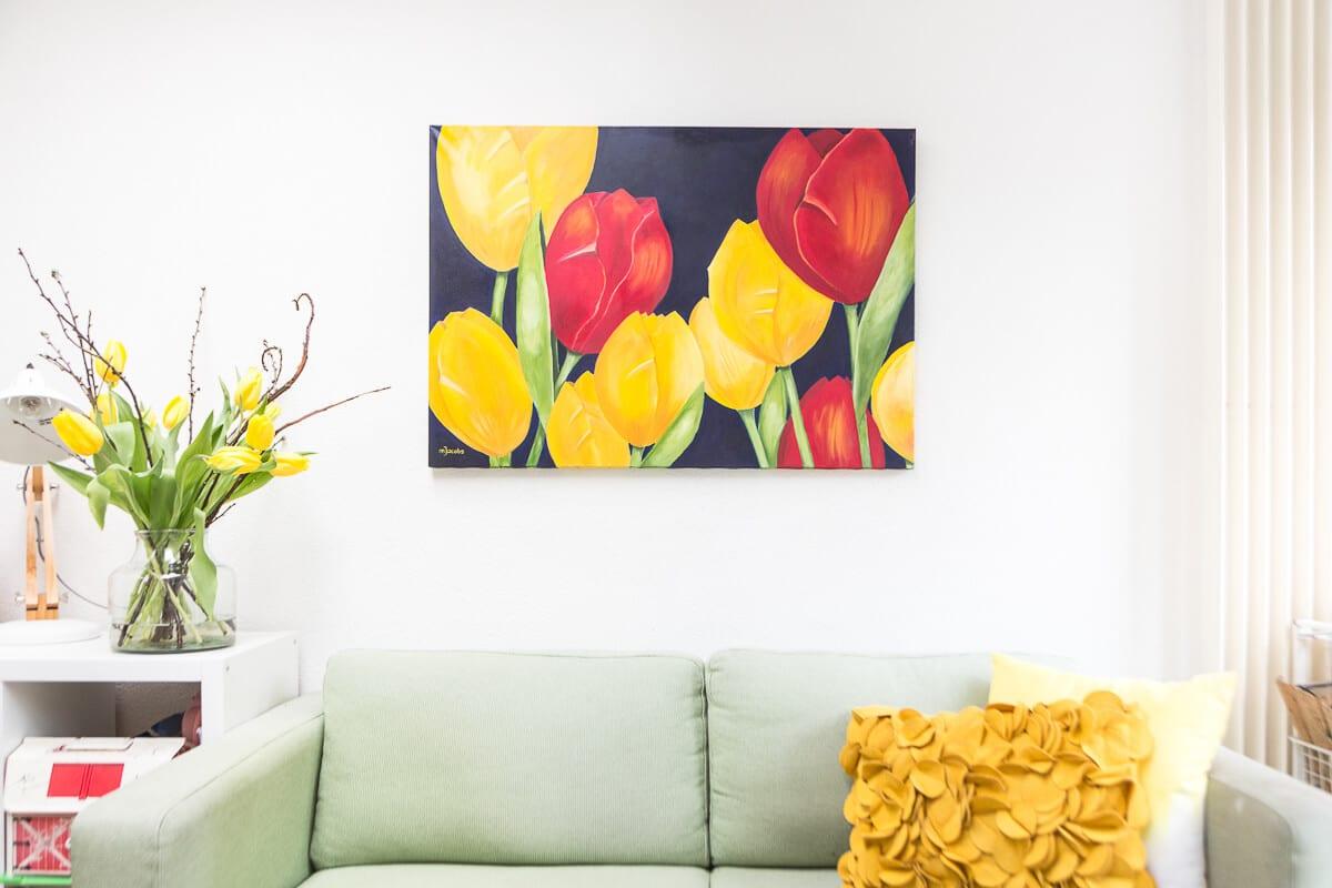 M. Jacobs Schilderij: Tulpen uit Eindhoven