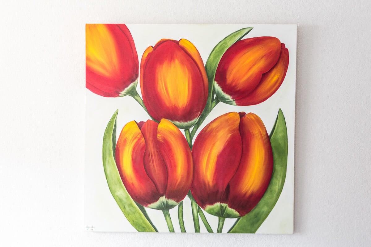 M. Jacobs Schilderijen: Tulpen uit Lemiers