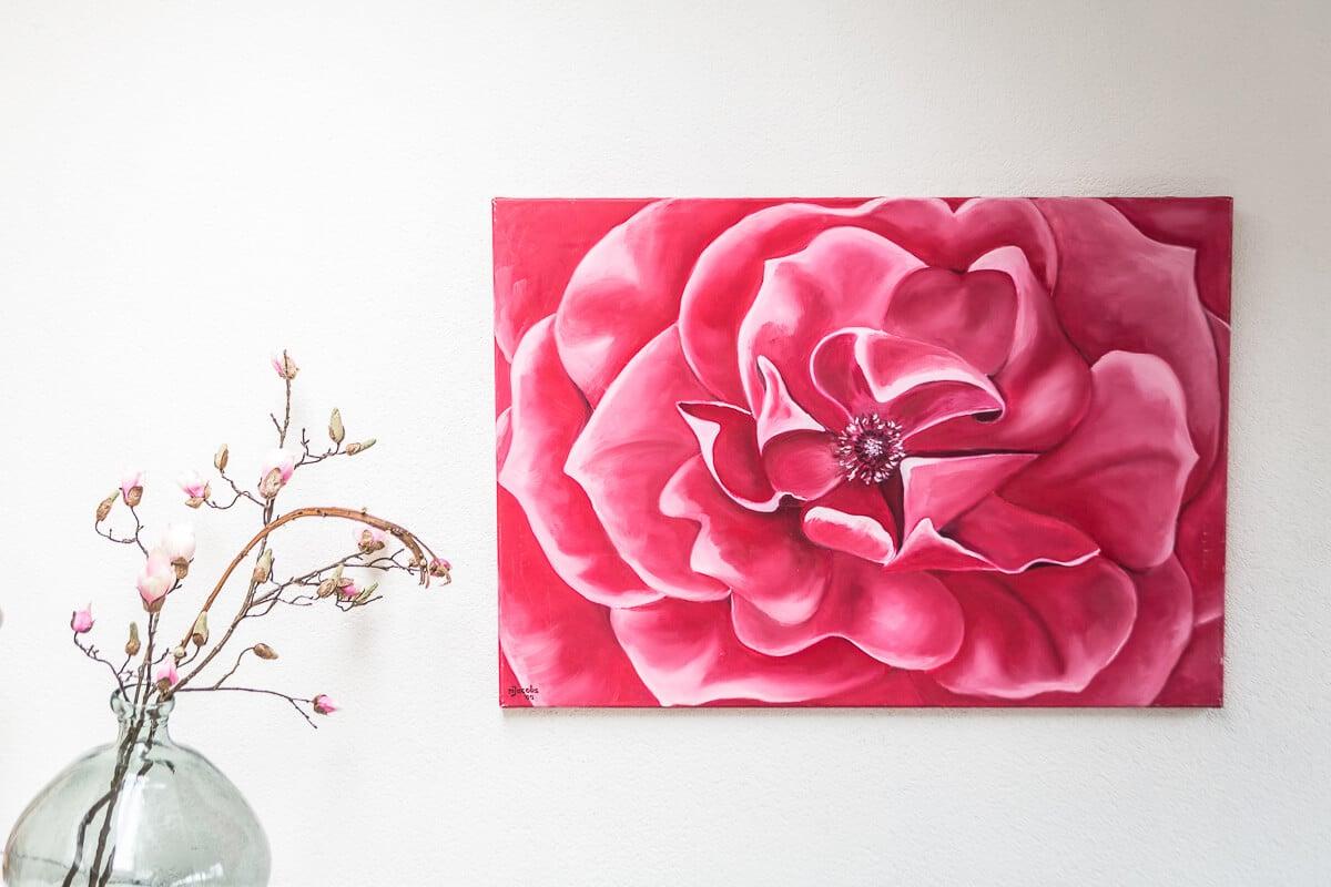 M. Jacobs Schilderijen: Roos