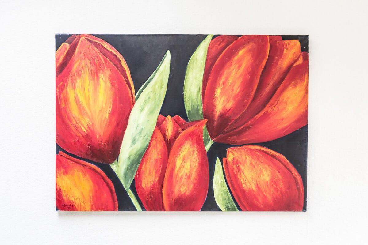 M. Jacobs Schilderijen: Tulpen uit Vaals