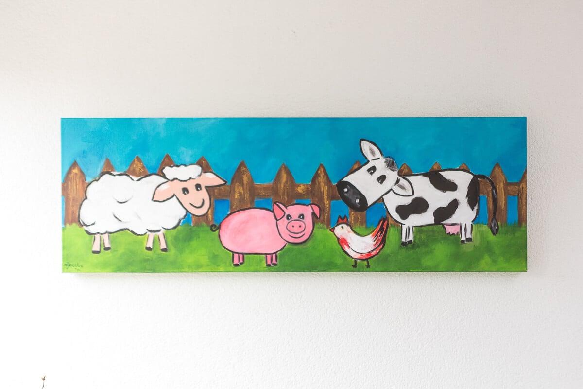 M. Jacobs Schilderijen: Boerderij