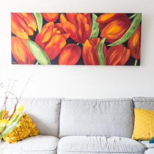 M. Jacobs Schilderij: Tulpen uit Roosendaal