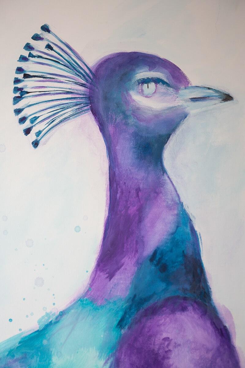 M. Jacobs Schilderijen: Kraanvogel
