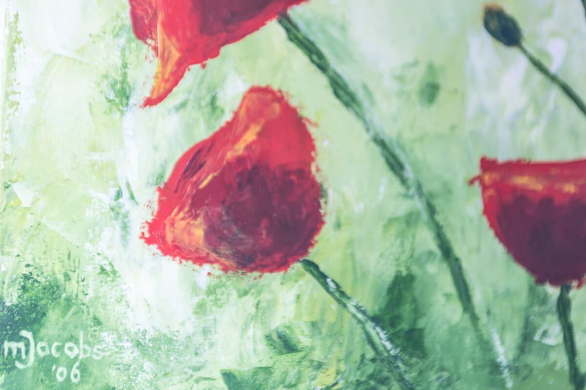 M. Jacobs Schilderijen: Klaproosjes