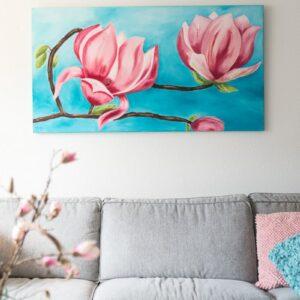 M. Jacobs Schilderij: Magnolia
