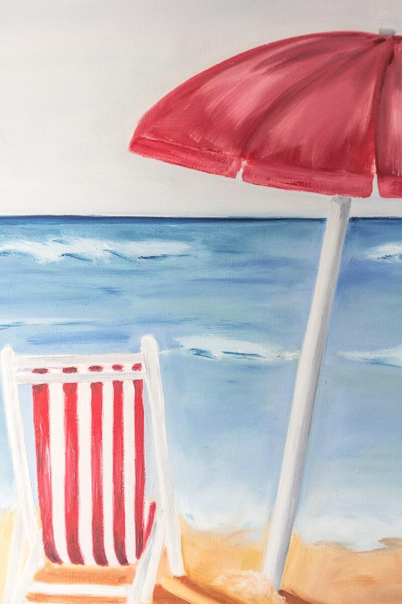 M. Jacobs Schilderij: Rust Aan Zee