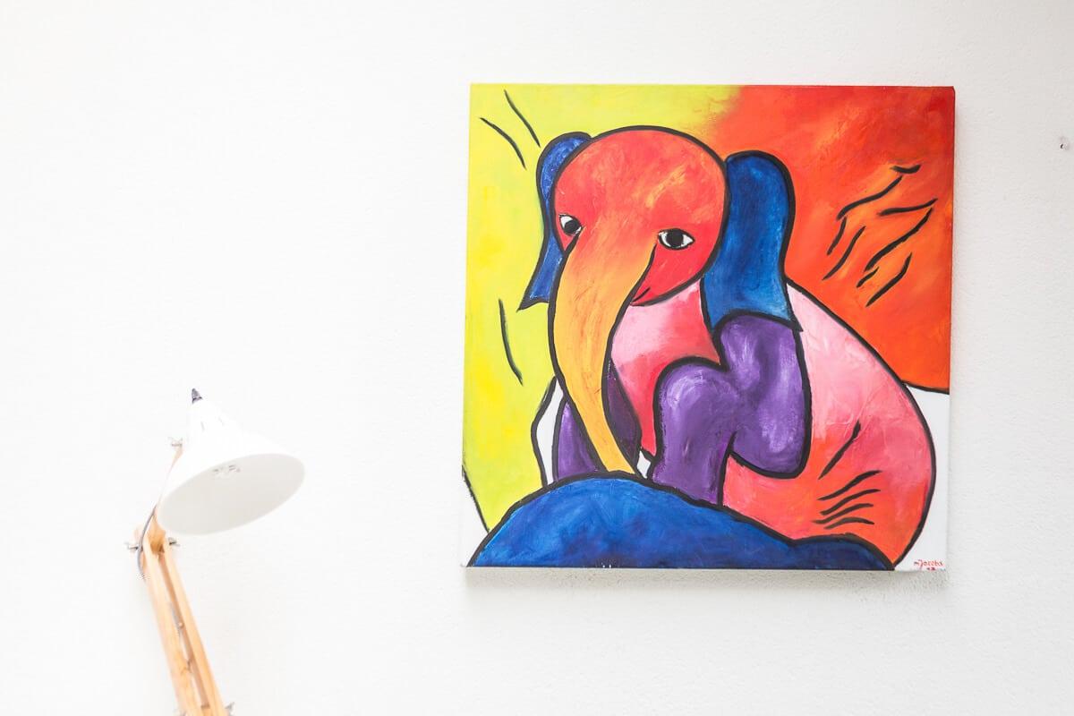 M. Jacobs Schilderijen: Olifant