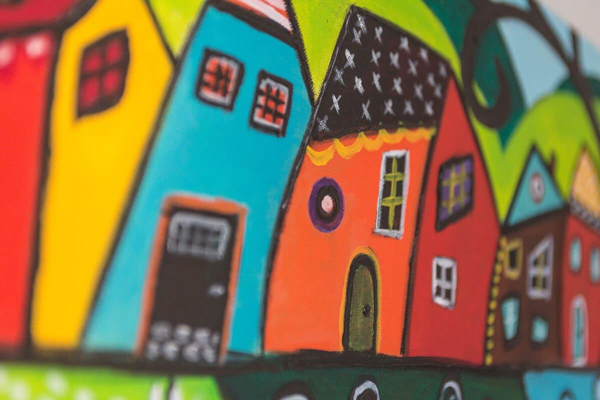 M. Jacobs Schilderijen: Huisjes
