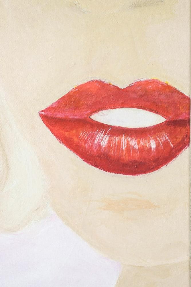 Schilderij: Red lips